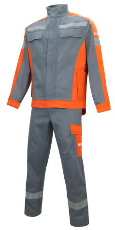 Rensing - Multi-5 350f Plus-R - Anzug front - grau-orange